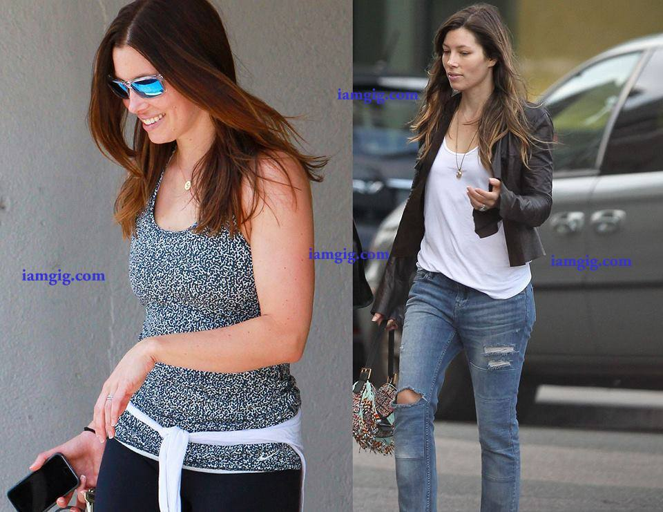 Jessica Biel , Justin Timberlake's wife Shows Off Her Post-Baby Belly After Gym