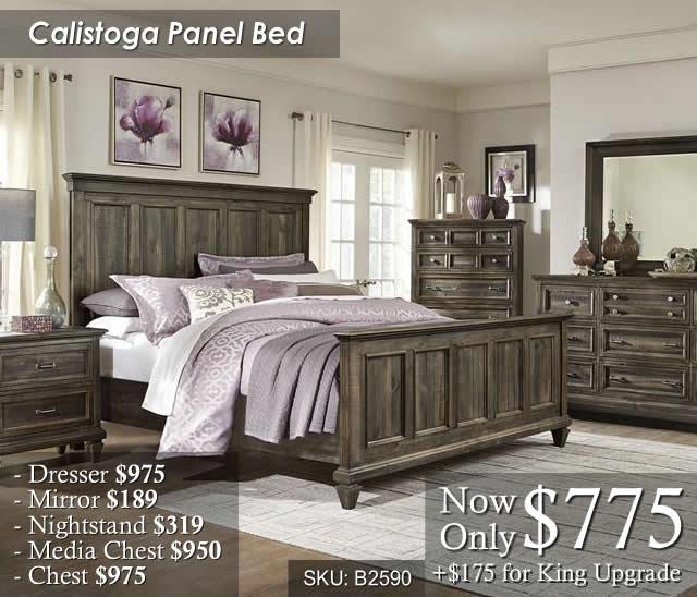 Calistoga Panel Bed
