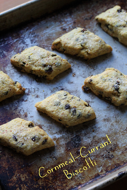 ... with Dorie BWJ: Cornmeal-Currant Biscotti | a whisk and a spoon