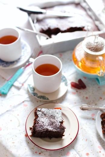 Olive Oil and Sea Salt Brownie Mix Cake