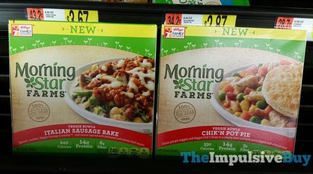MorningStar Farms Italian Sausage Bake and Chik'n Pot Pie Veggie Bowls