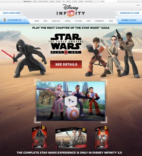 Disney Infinity 3.0 Edition Homepage Takeover