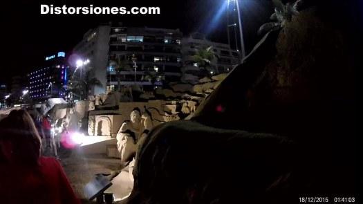 El Bele?n de Arena de la playa de las Canteras de noche