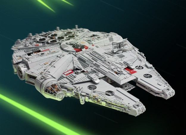 Fan spends a year building 7,500-piece Millennium Falcon from the ...