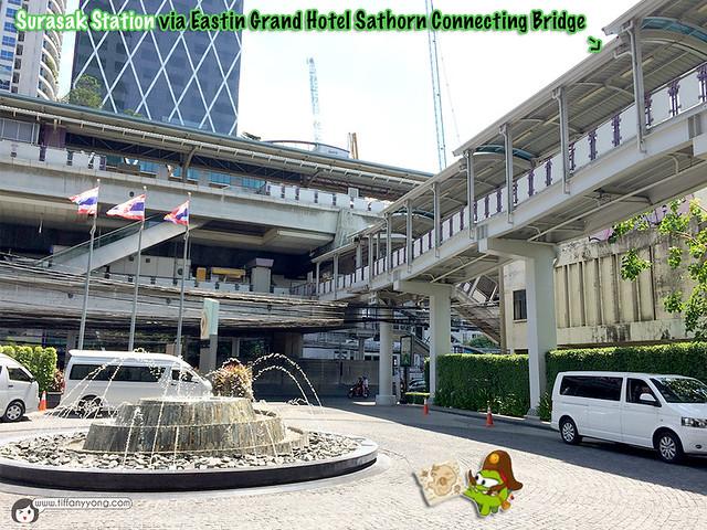 Eastin Grand Surasak Station Bridge