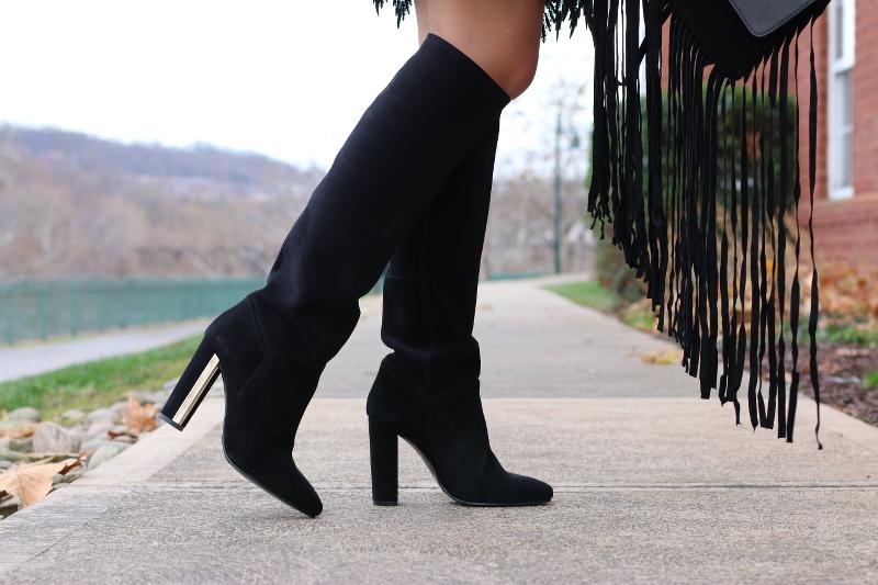 Topshop, suede boots
