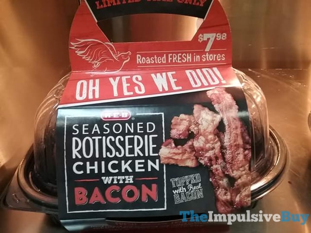 H-E-B Seasoned Rotisserie Chicken with Bacon