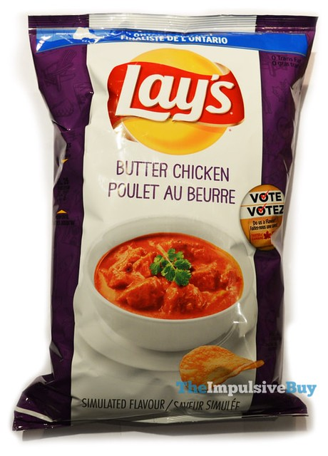 Lay's Do Us a Flavor Butter Chicken Potato Chips (Canada)