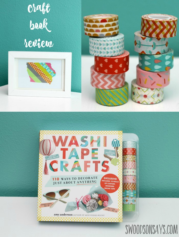 A craft book review of Washi Tape Crafts on Swoodsonsays.com