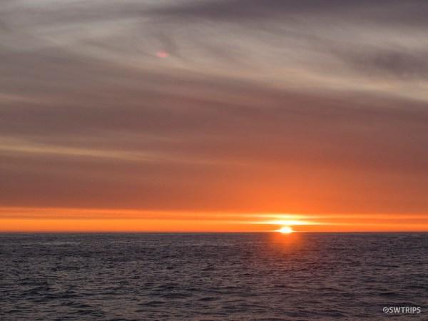 Sunset on Tasman Sea, Doubtful Sound
