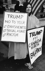 #TrumpProtest in Toronto