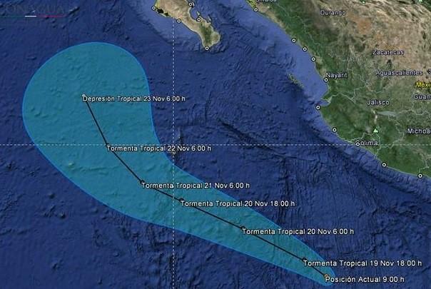 Tormenta 'Rick' provocará lluvias fuertes en Guerrero