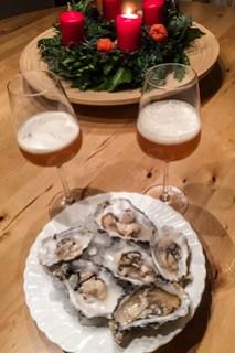 Austern und Champagnerbier