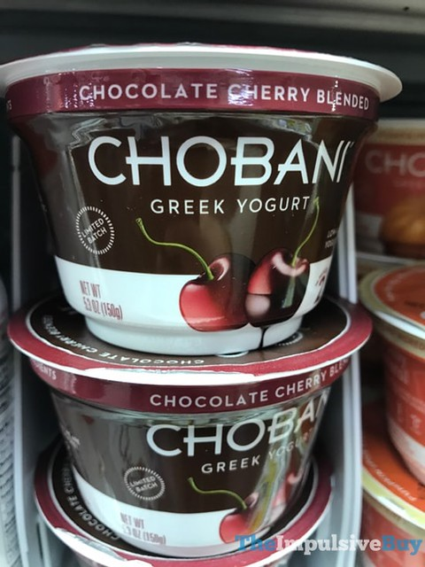 Chobani Limited Batch Chocolate Cherry Blended Greek Yogurt