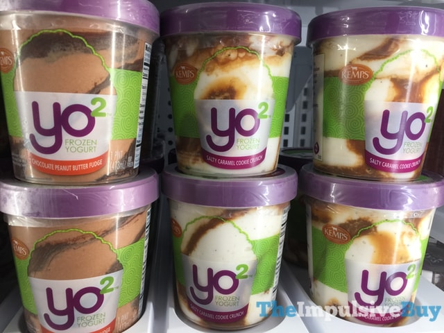 Kemps Yo2 Frozen Yogurt (Chocolate Peanut Butter Fudge and Salty Caramel Cookie Crunch)