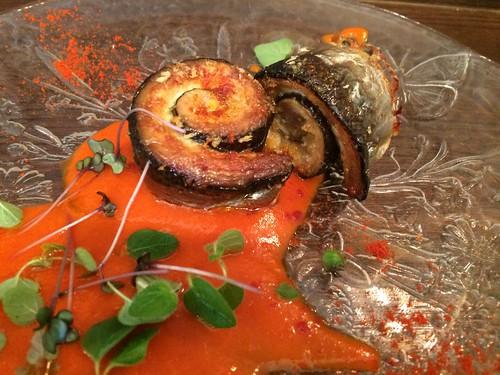 岩手県宮古産の秋刀魚のオーブン焼き パプリカソース@イルトラム