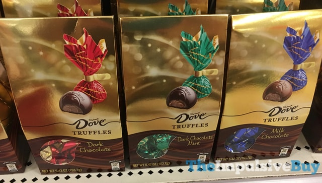 Dove Truffles (Dark Chocolate, Milk Chocolate, and Dark Chocolate Mint)