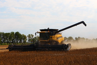 Dad in the combine.