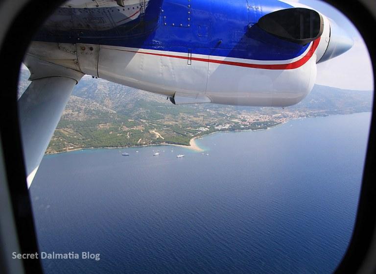 Zlatni rat beach from the air