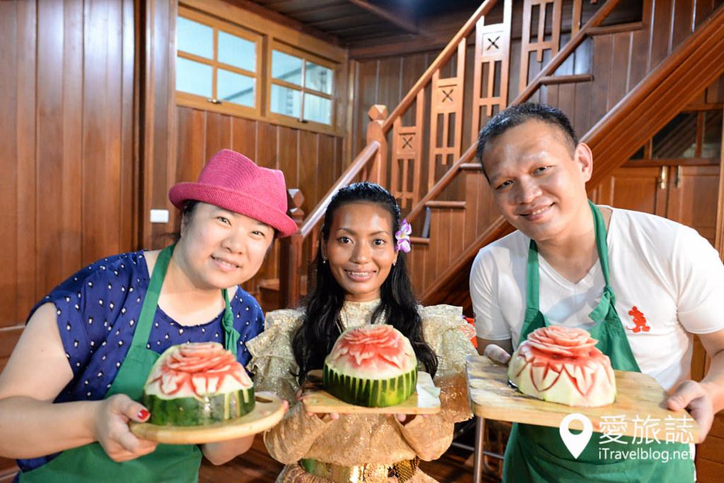 《曼谷泰菜学习》May Kaidee蔬食厨艺学校:果雕课程体验