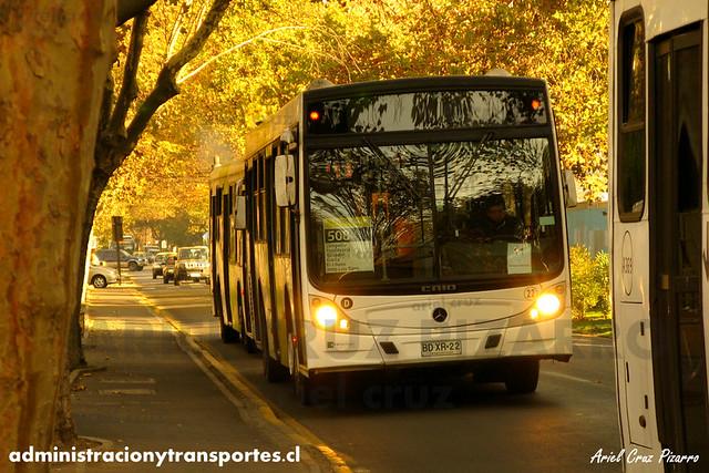 Transantiago - Metbus - Caio Mondego H / Mercedes Benz (BDXR22)