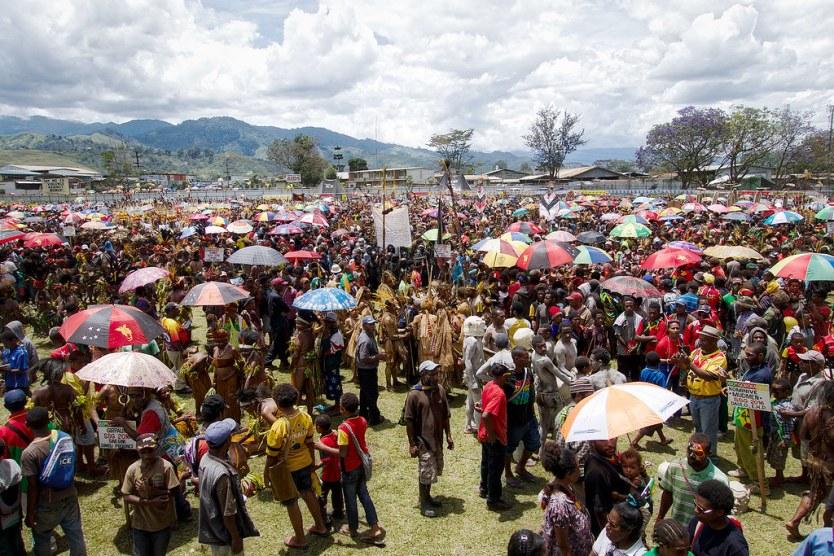 The Goroka Show in full swing.