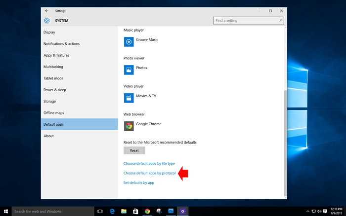 How to customize default app on Windows 10-5