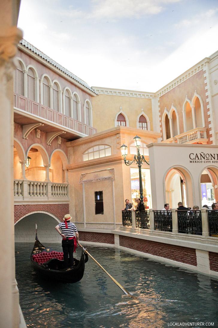 Gondola Rides at the Venetian Las Vegas.