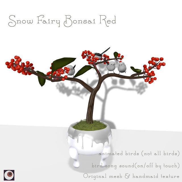 *NAMINOKE*Snow Fairy Bonsai RED