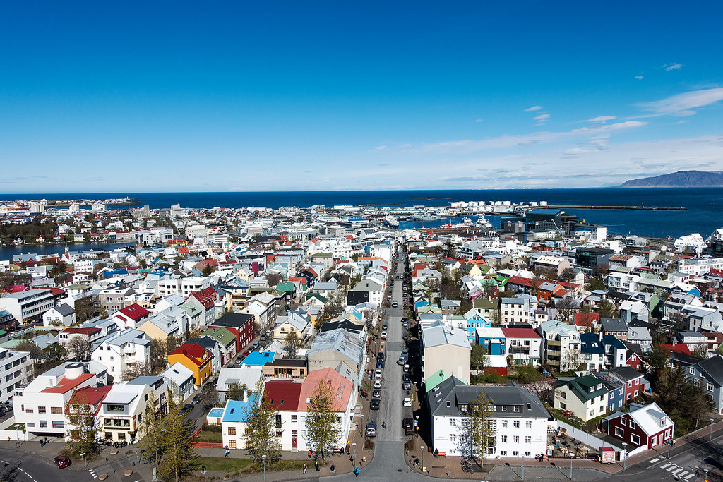 Colorful Reykjavik from Hallgrímskirkja.