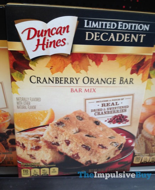Duncan HInes Limited Edition Decadent Cranberry Orange Bar Mix