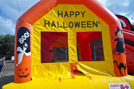 pumpkin patch bounce house