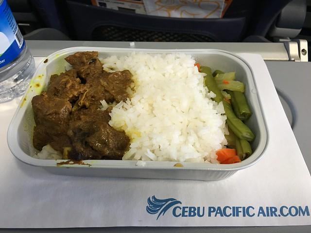 Cebu Pacific in flight meal