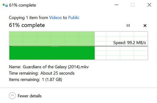 ความเร็วในการอัพโหลดข้อมูลไป WD My Cloud PR2100