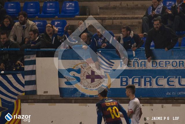 Copa del Rey. 1/16 ida. Llagostera 1 - Deportivo 2