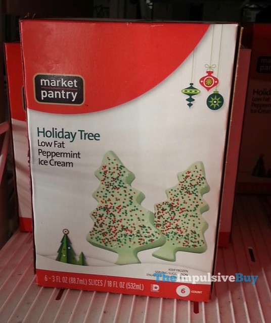Market Pantry Holiday Tree Low Fat Peppermint Ice Cream