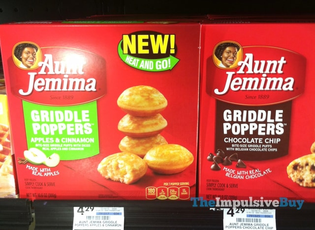 Aunt Jemima Apples & Cinnamon and Chocolate Chip Griddle Poppers