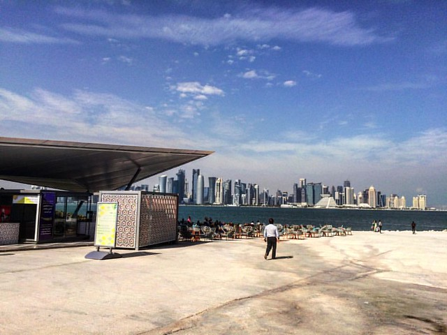 Museum of islamic arts park @doha is a cool place to rest, read and write. #doha #miapark