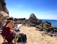 Iain Stewart Watercolor Painting Workshop Spain with www.frenchescapade.com