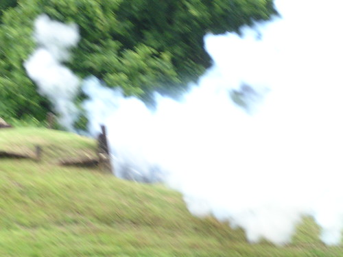 Vicksburg National Cemetery Park, Cannon Firing