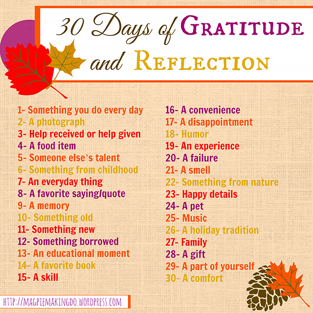 30 Days of Gratitude and Reflection resized