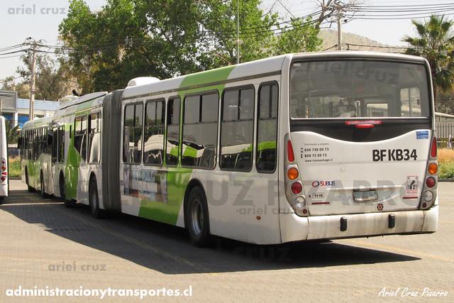Transantiago - Subus Chile - Marcopolo Gran Viale / Volvo (BFKB34) (9548)