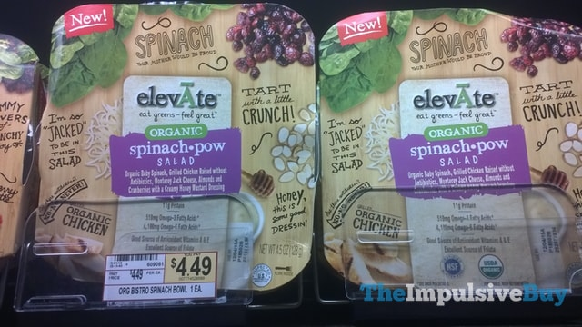 elevAte Organic Spinach Pow Salad