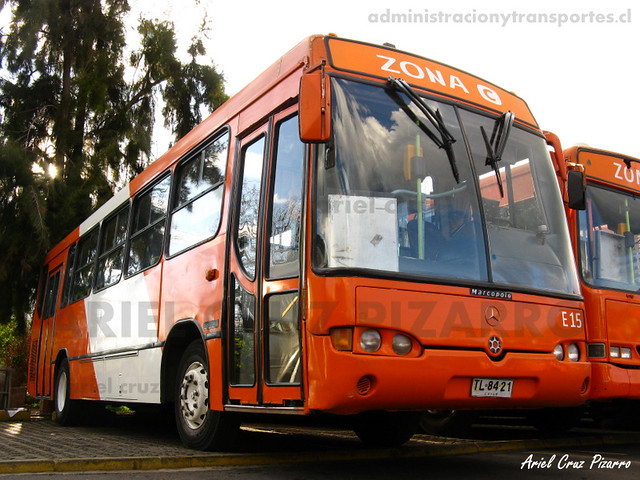 Transantiago - Redbus Urbano - Marcopolo Viale / Mercedes Benz (TL8421)