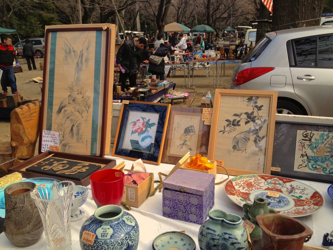 Antique Market in Yasukuni Shrine at Kudanshita