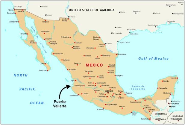 Mapa Puerto Vallarta