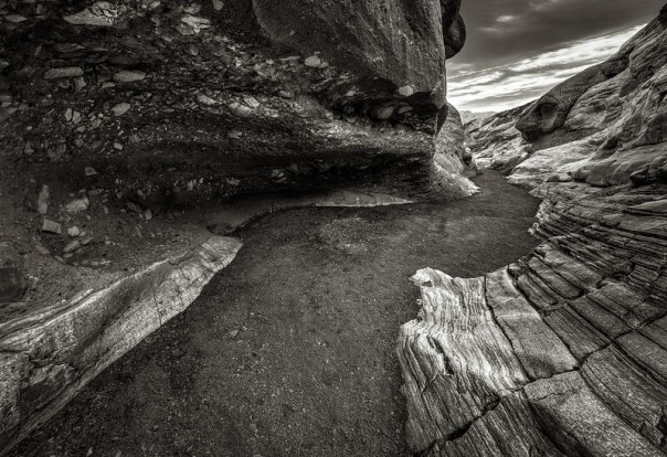 Mosaic Canyon Monochrome