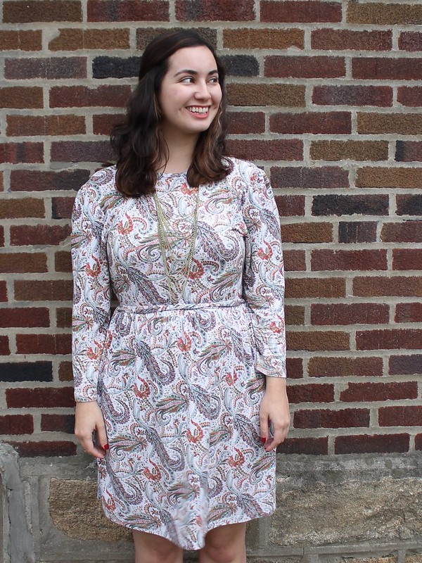 Paisley Print 70s-inspired Dress for Friendsgiving