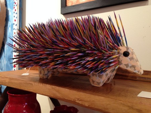 JL Nipper Porcupine, Main Street Gallery, Clayton GA