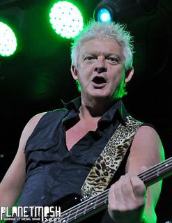 Ray Haller of Sweet Savage at Limelight 1, Belfast, 11 November 2015